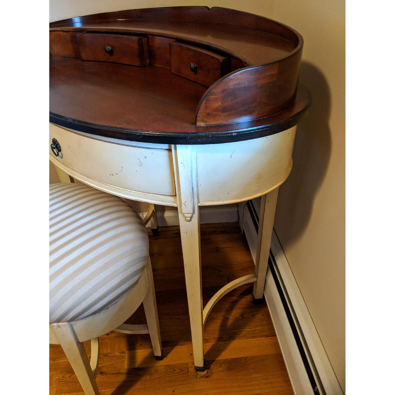 Williams-Sonoma Oval Vanity Desk w/ Stool-3