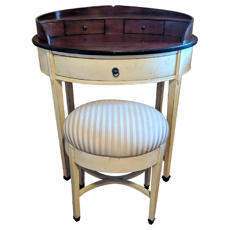 Williams-Sonoma Oval Vanity Desk w/ Stool