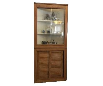 Malibu Collection Corner Cabinet/Hutch