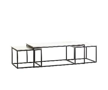 Wisteria Marble 3 Piece Nesting Coffee Tables