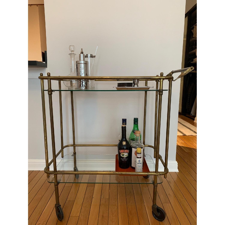 Vintage Brass Bar Cart-0
