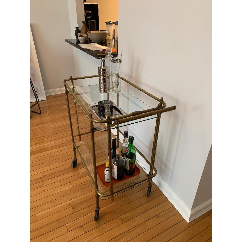 Vintage Brass Bar Cart-2