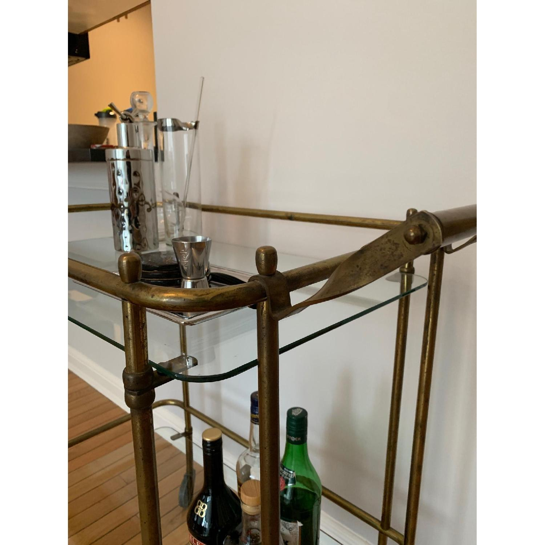 Vintage Brass Bar Cart-3
