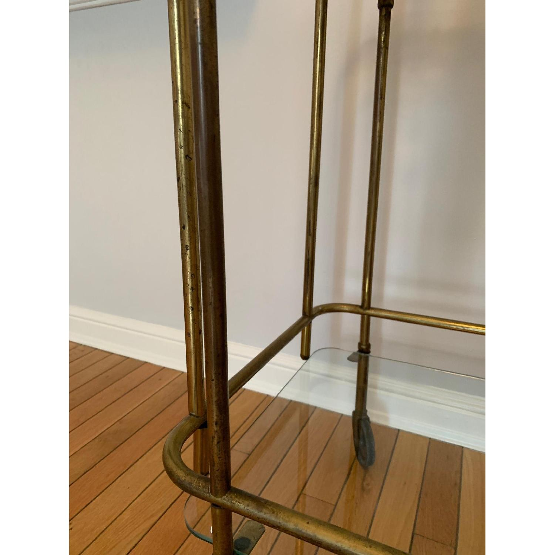 Vintage Brass Bar Cart-4