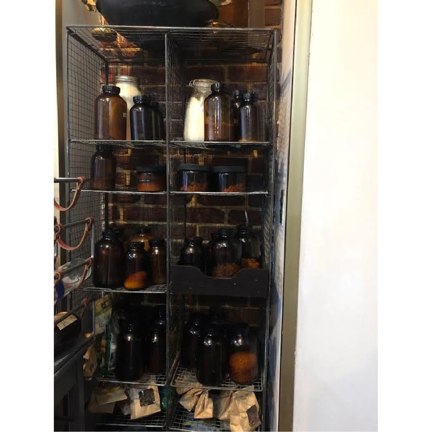 Vintage Mesh Wire Shelving Unit-0