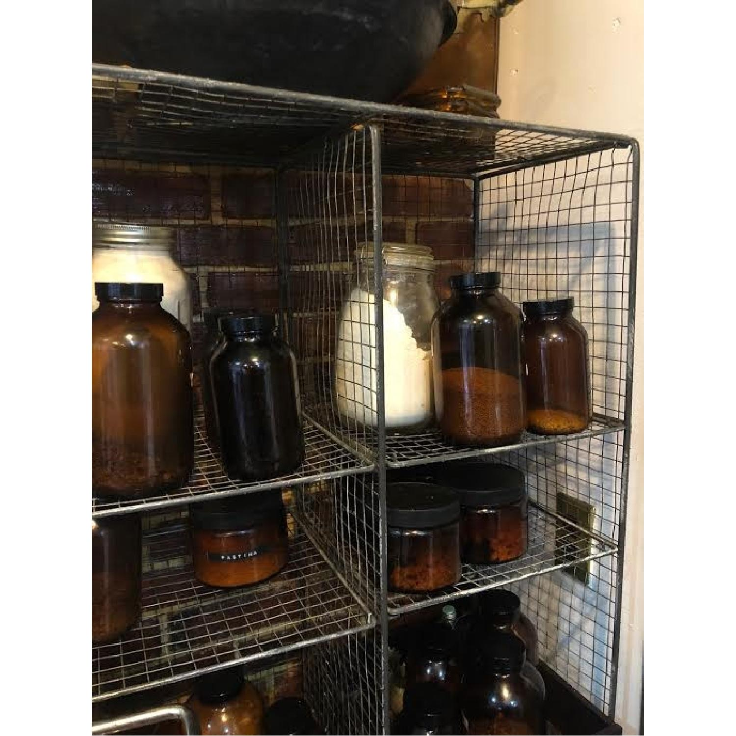 Vintage Mesh Wire Shelving Unit-1
