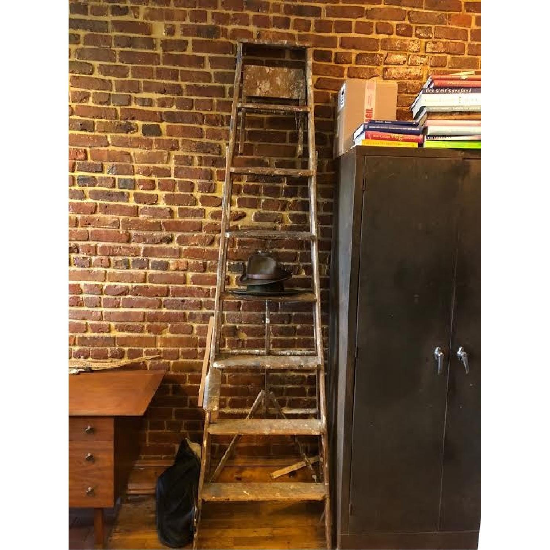 Vintage Wood Ladder-2
