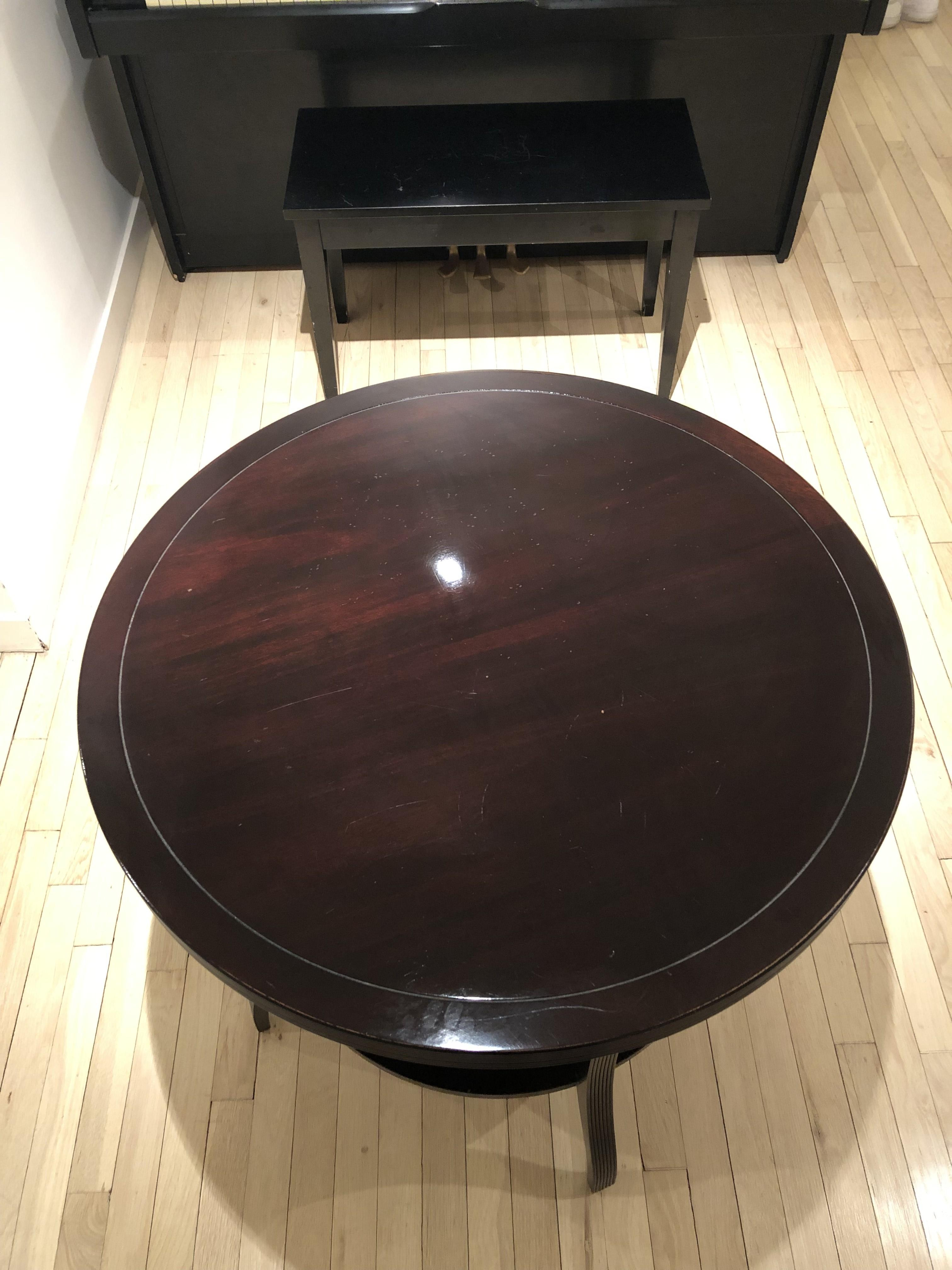 Baker Barbara Barry Mahogany Round Tiered End Table