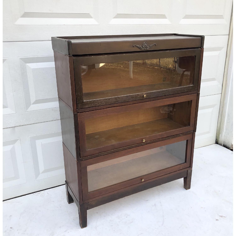 Vintage Barrister Bookcase-1
