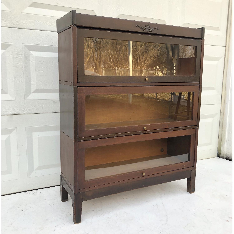 Vintage Barrister Bookcase-4