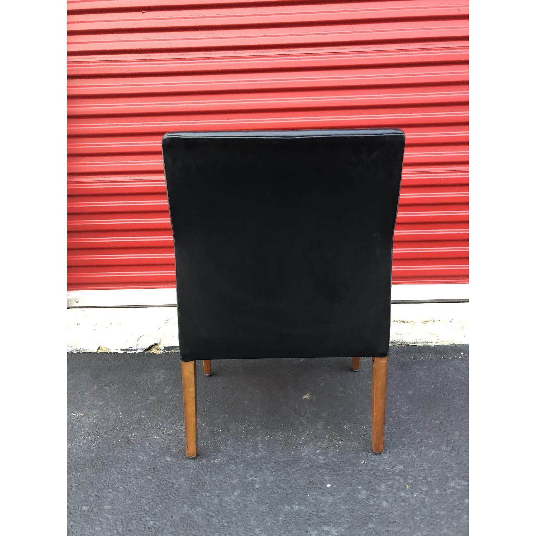Gunlocke Mid Century Modern Walnut & Black Vinyl Chair-3