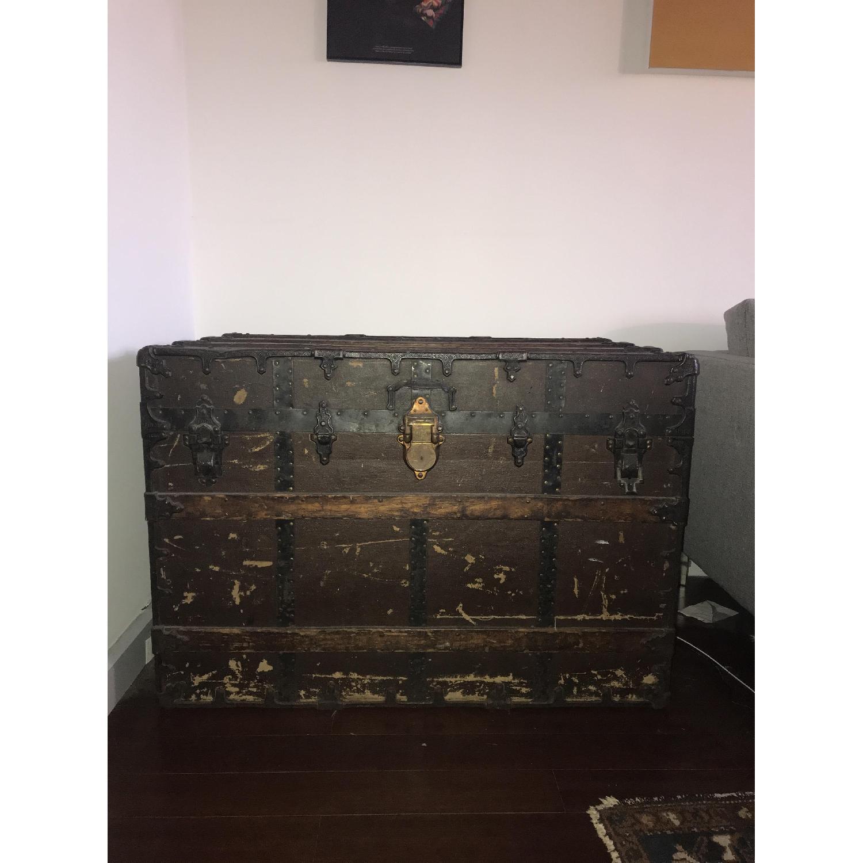 Antique Steamer Trunk-6