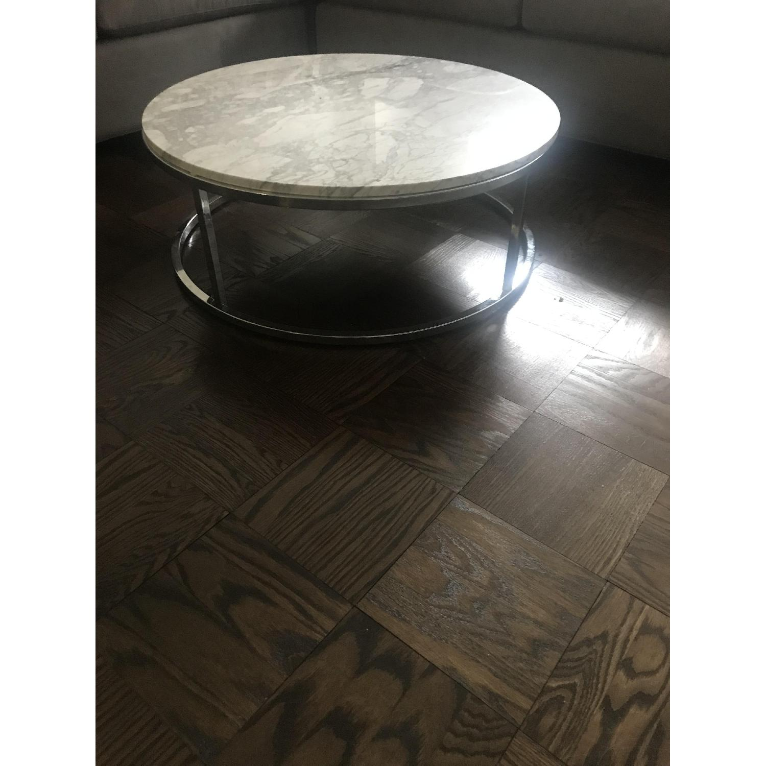 CB2 Smart Round Marble Coffee Table-0