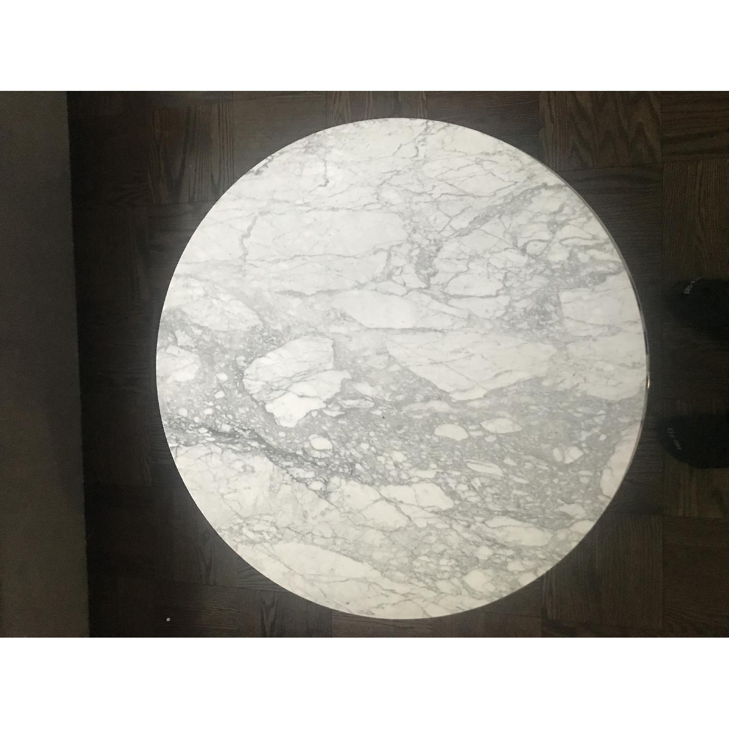 CB2 Smart Round Marble Coffee Table-1