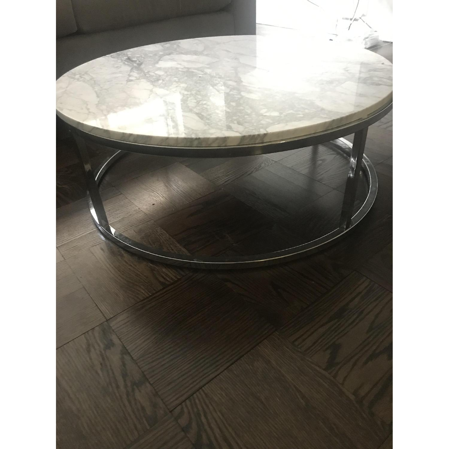 CB2 Smart Round Marble Coffee Table-2