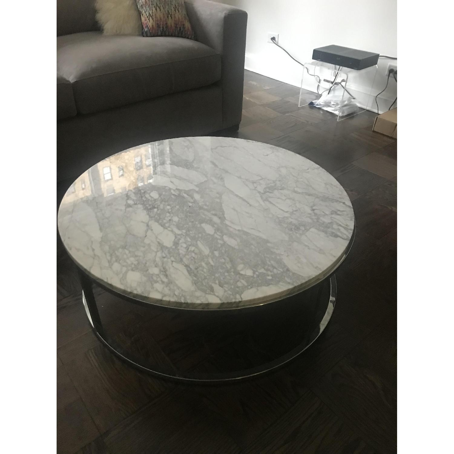 CB2 Smart Round Marble Coffee Table-3
