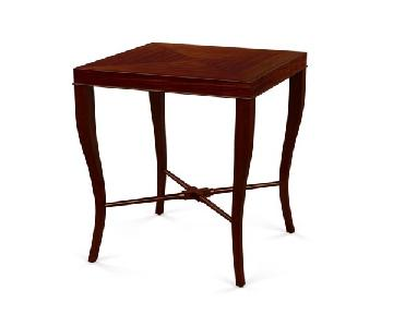Ethan Allen Gracie Square Side Table