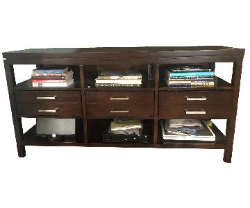 Macy's Three-Drawer TV Console w/ Shelves