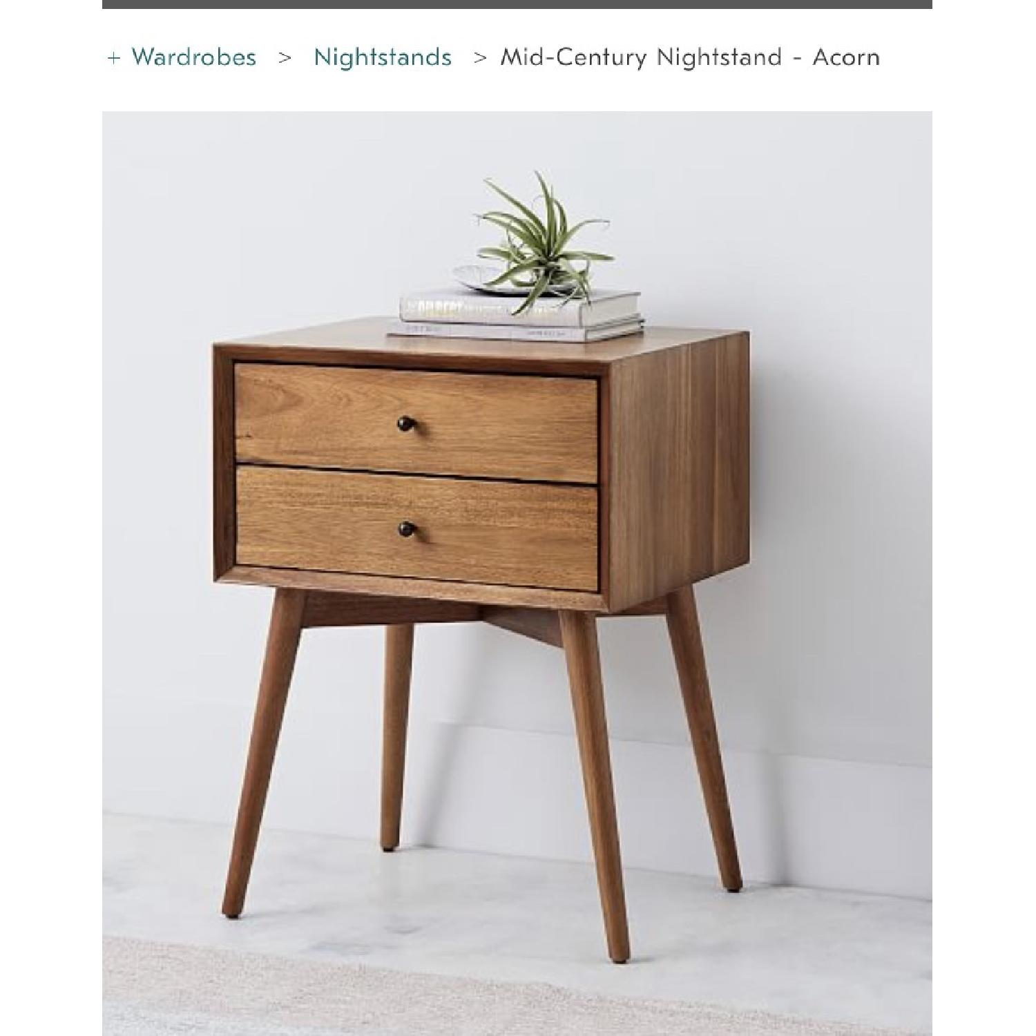 West Elm Mid Century Nightstand in Acorn-0