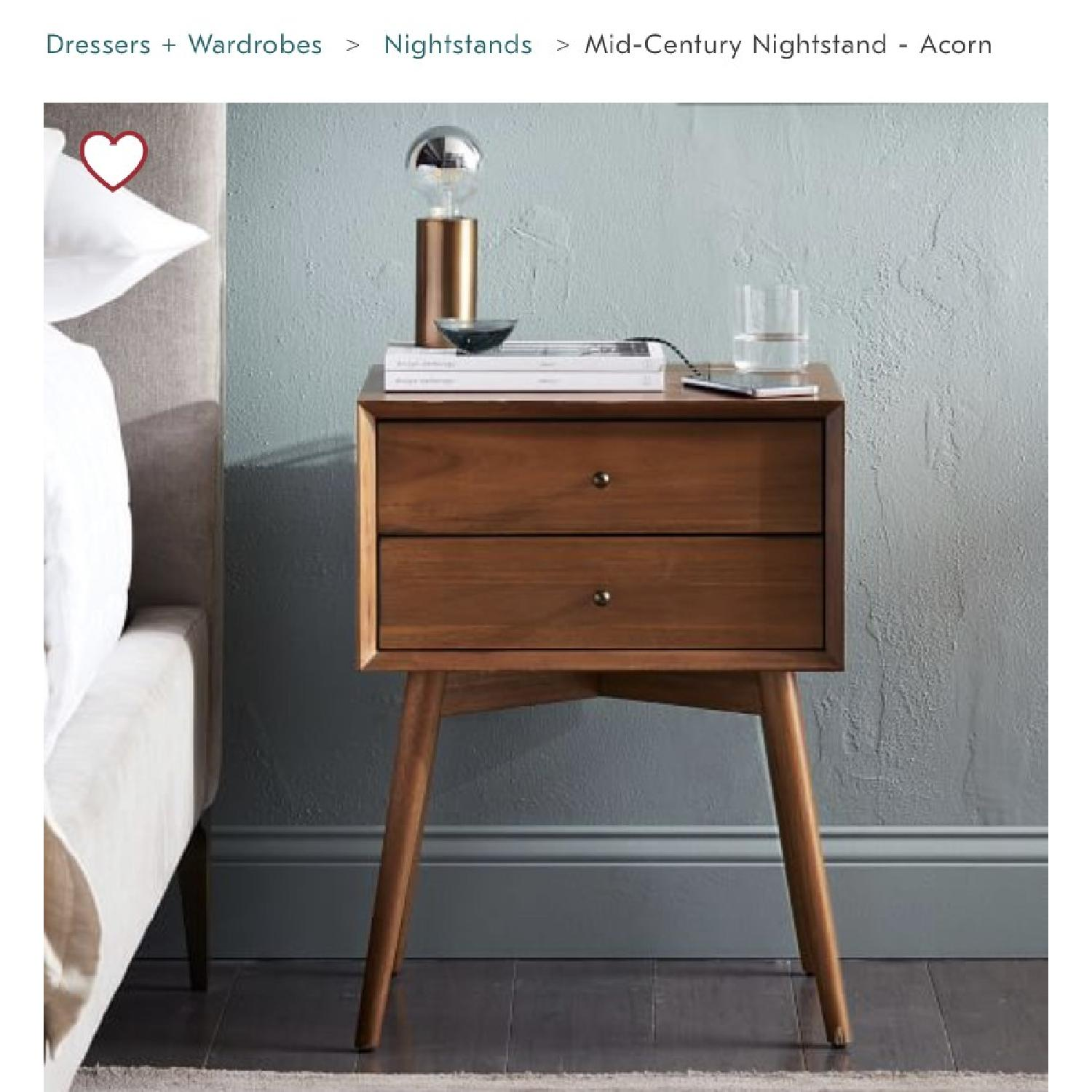 West Elm Mid Century Nightstand in Acorn-1