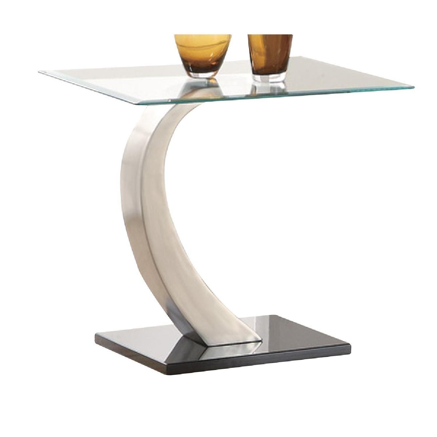 Coaster Glass Top End Table