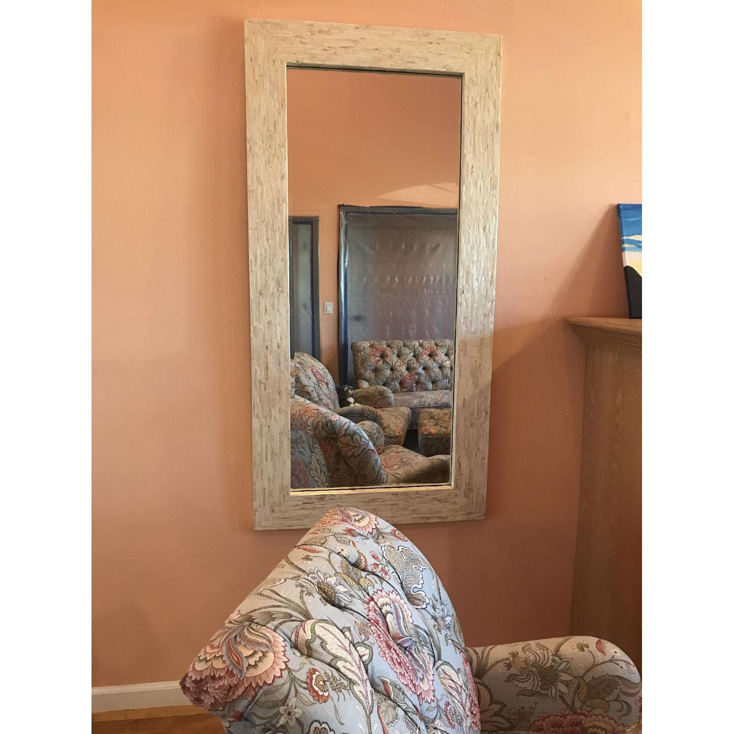 Pier 1 Mother of Pearl Shell Mirror-0