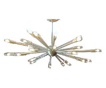 Vintage Brass Sputnik Ceiling Pendant Lamp