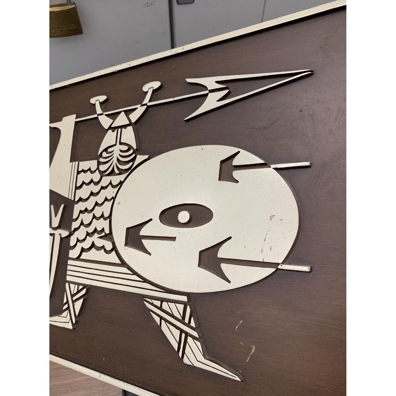 Danish Modern Molded Burwood Viking 4-Piece Wall Art-3