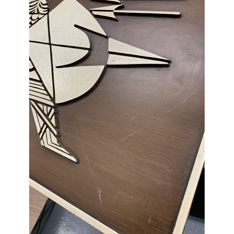 Danish Modern Molded Burwood Viking 4-Piece Wall Art-5