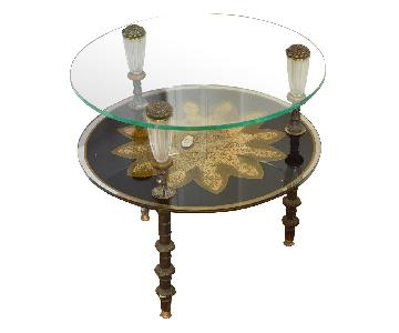 Hollywood Regency, Goran Belgium Glass End Tables
