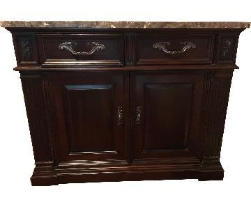 Bernhardt Wood Buffet w/ Marble Top