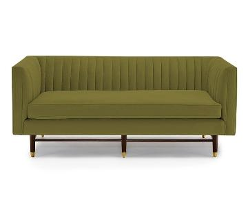 JoyBird Chelsea Apartment Sofa in Royal Apple Green