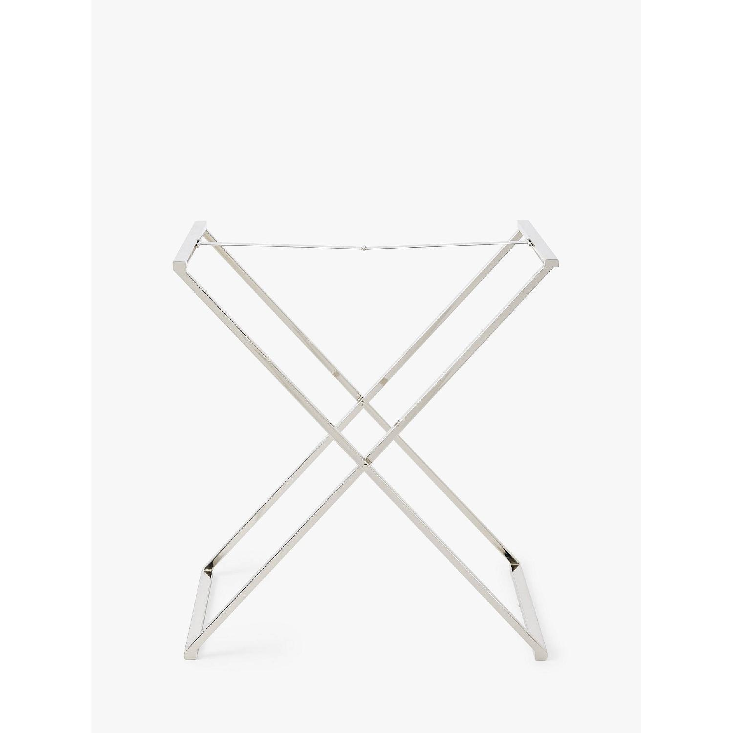 West Elm Butler Tray Table in White Lacquer & White Wood-5