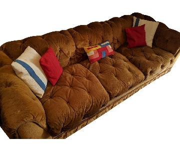 Vintage Velour Chesterfield Sofa