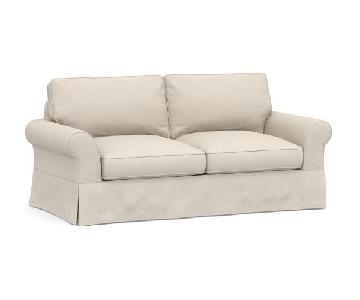 Pottery Barn Comfort Roll Arm Slipcovered Sofa