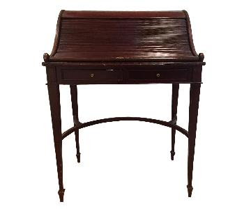 Vintage Roll Top Writing Desk