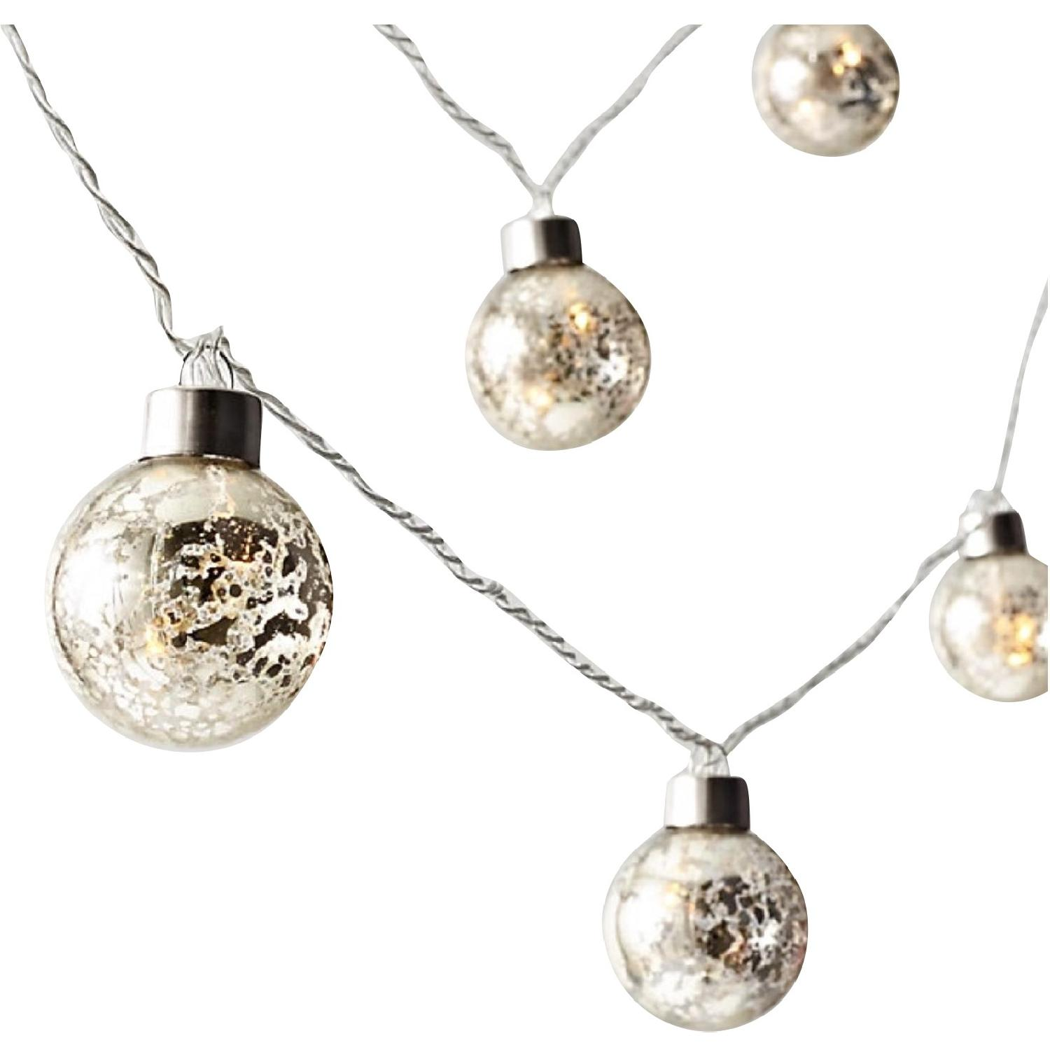 Restoration Hardware Mercury Glass Globe String Light