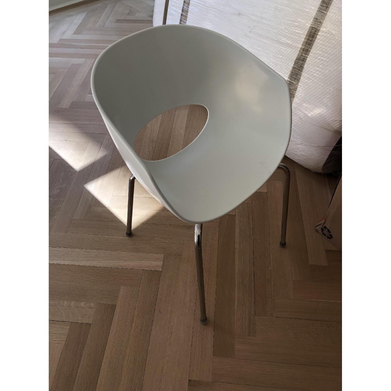 CB2 Orbit White Armchair-0