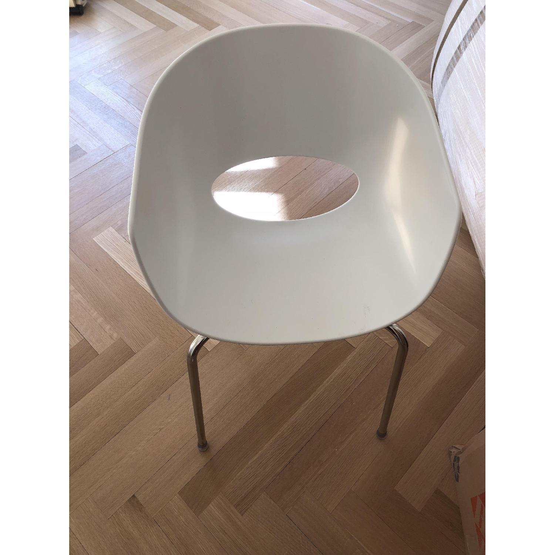 CB2 Orbit White Armchair-1