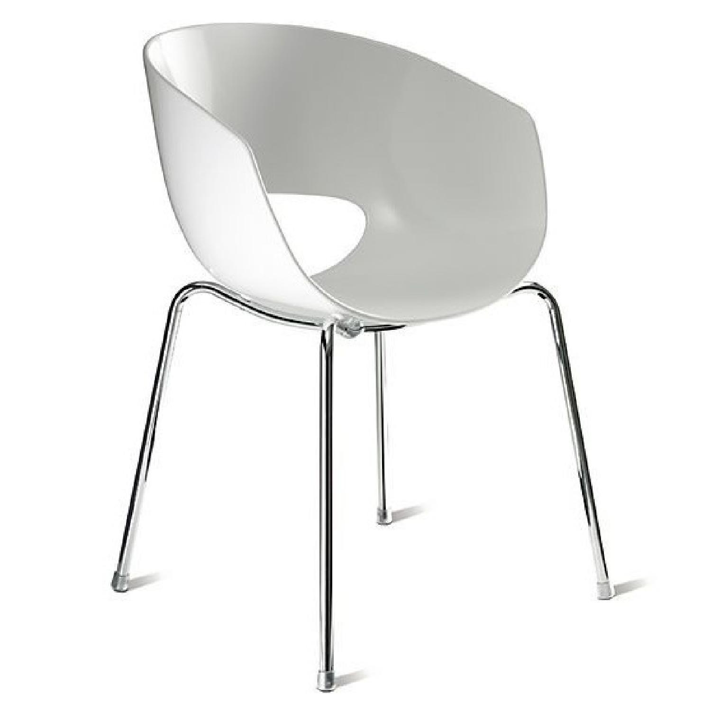 CB2 Orbit White Armchair-3