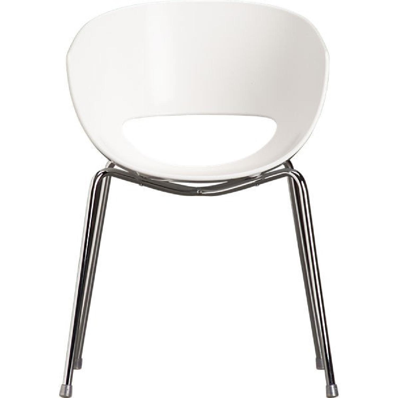 CB2 Orbit White Armchair