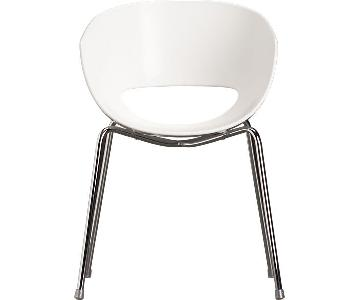 CB2 Orbit White Armchair