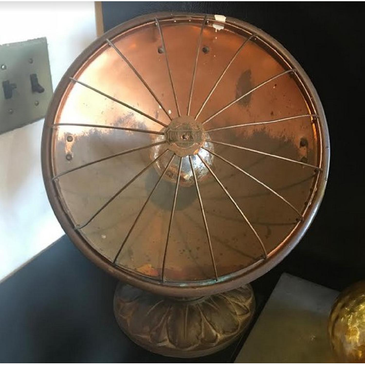 Vintage Lamp Heaters in Gold Copper Tone-0
