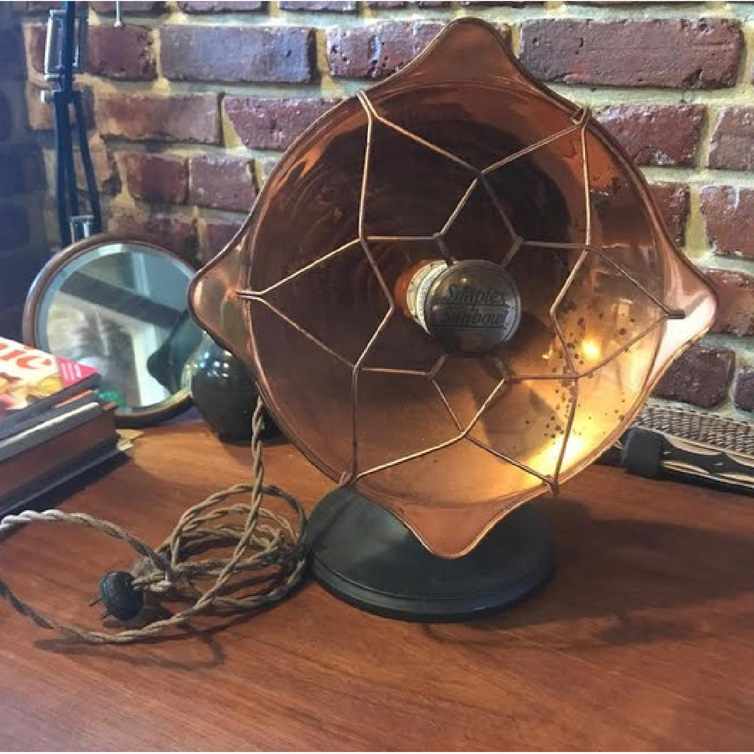Vintage Lamp Heaters in Gold Copper Tone-1