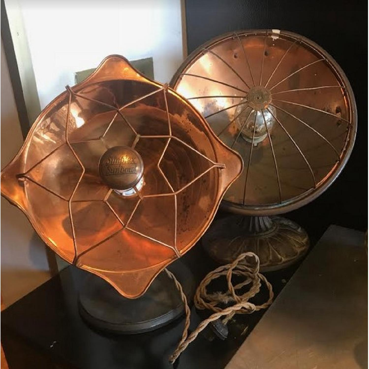 Vintage Lamp Heaters in Gold Copper Tone-4