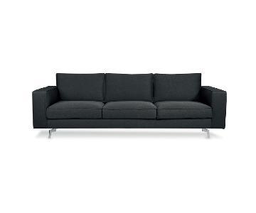 Calligaris Square 3 Seater Sofa w/ Metal Legs