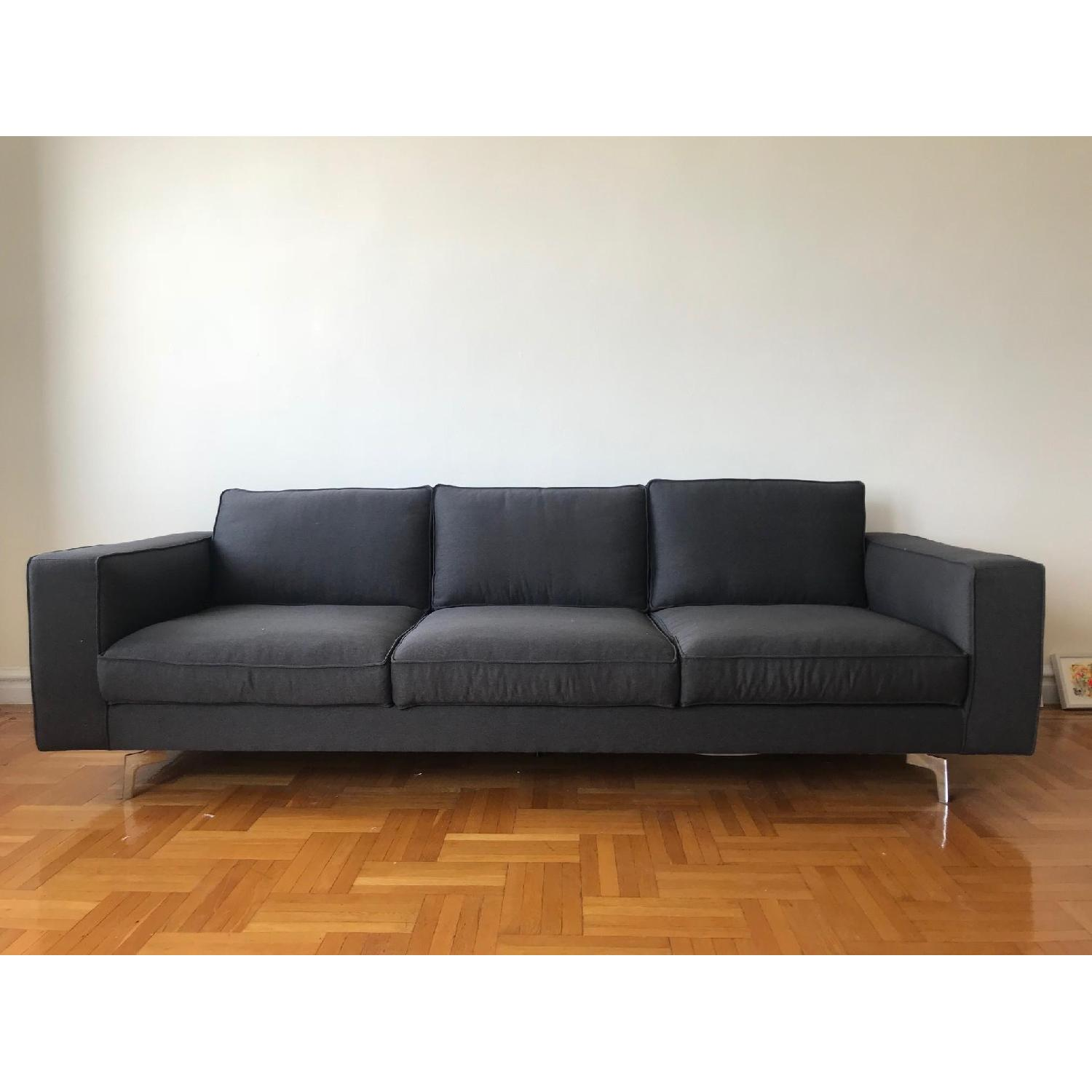 Calligaris Square 3 Seater Sofa w/ Metal Legs-0