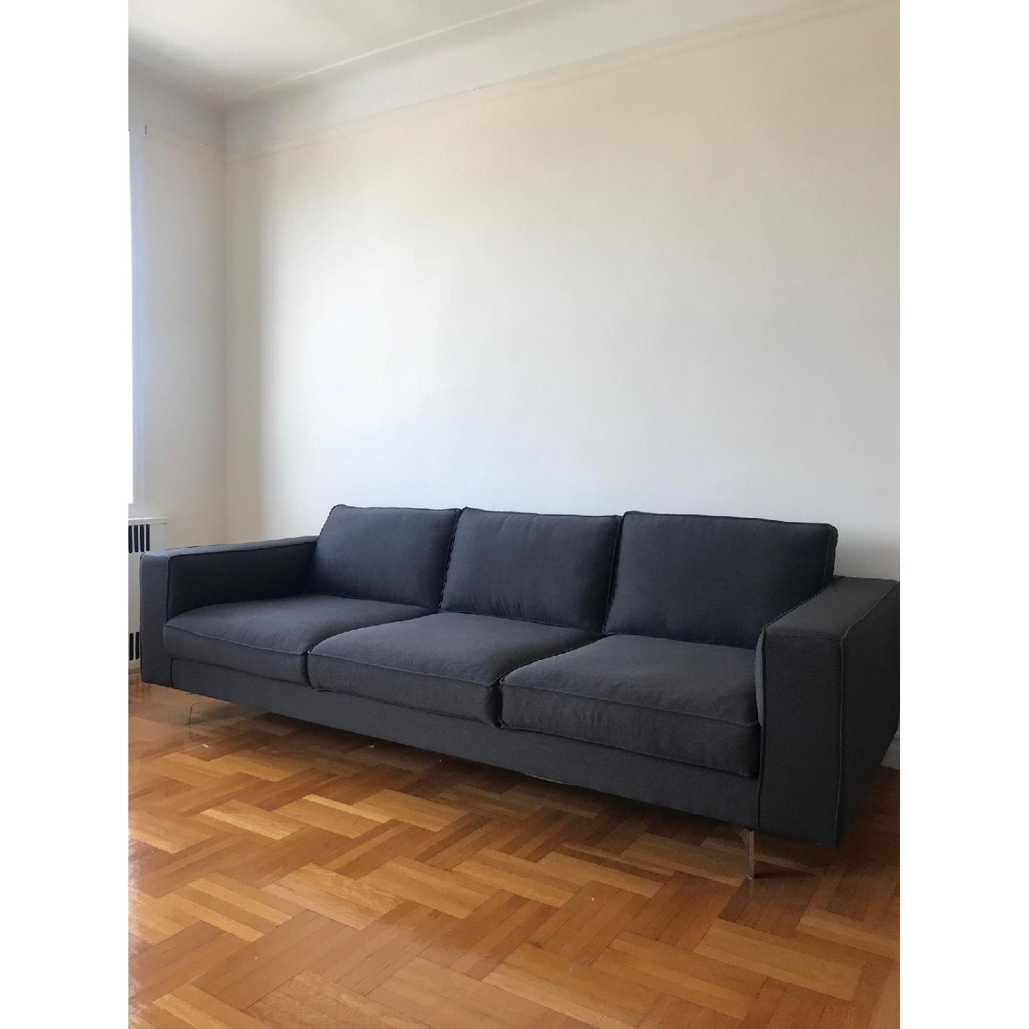 Calligaris Square 3 Seater Sofa w/ Metal Legs-1