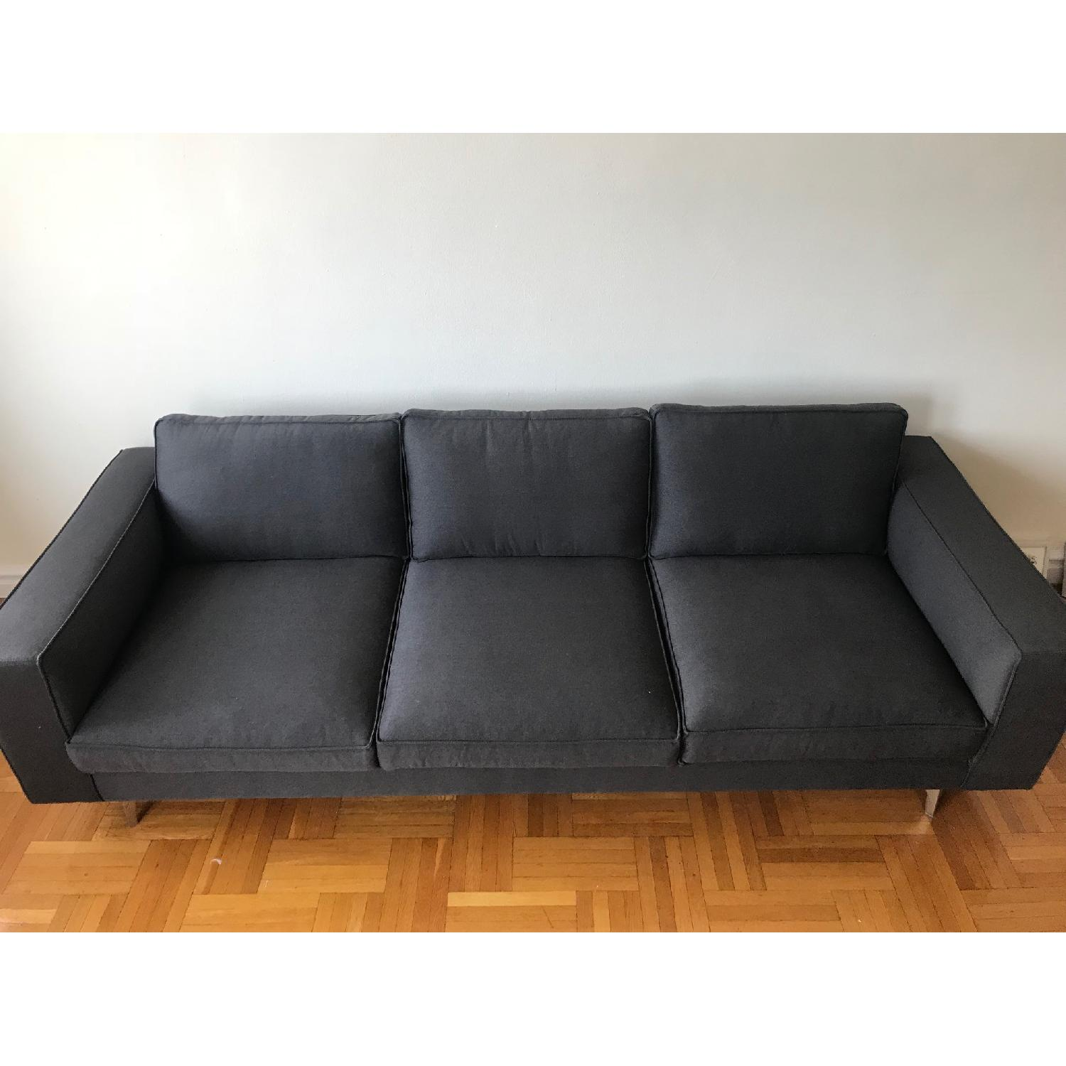 Calligaris Square 3 Seater Sofa w/ Metal Legs-2