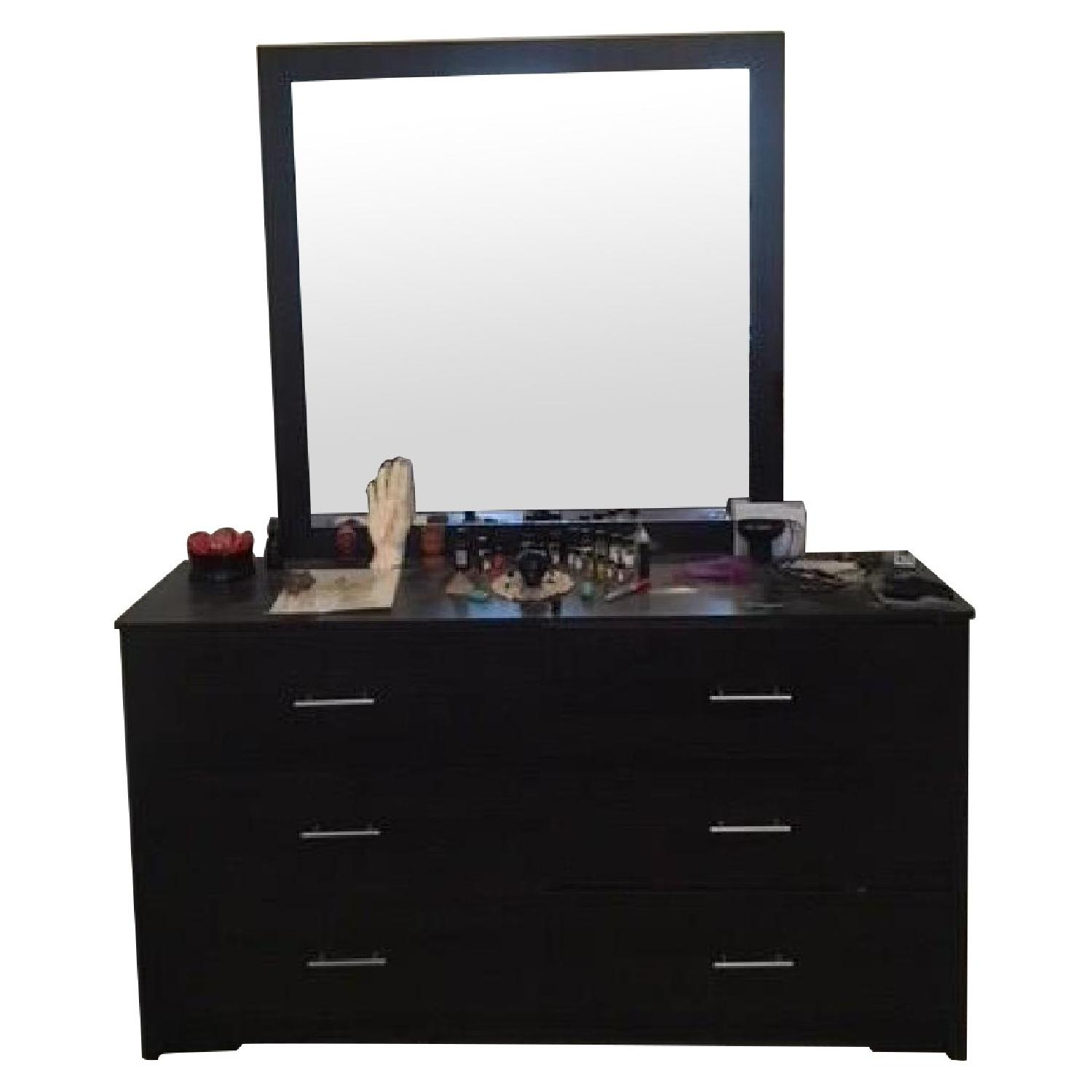 Urban Essentials Dark Wood 6-Drawer Dresser